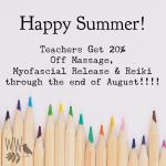 Teacher Summer Special Ad